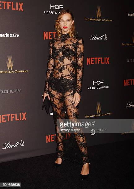Model Masha Rudenko attends The Weinstein Company and Netflix Golden Globe Party presented with DeLeon Tequila Laura Mercier Lindt Chocolate Marie...