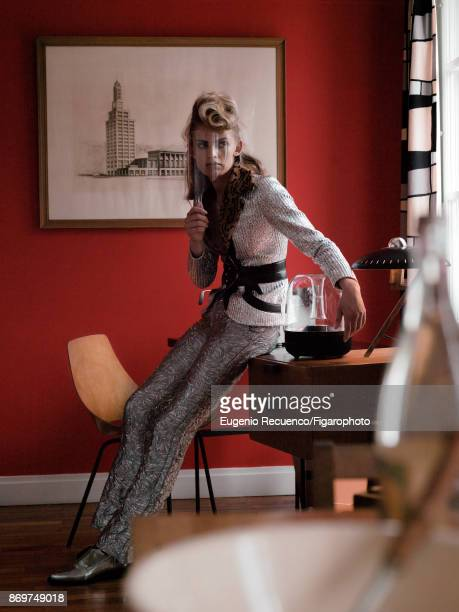 Model poses at a fashion shoot for Madame Figaro on July 19 2017 in Le Havre France Jacket pants shoes Speaker PUBLISHED IMAGE MANDATORY CAPTION Show...