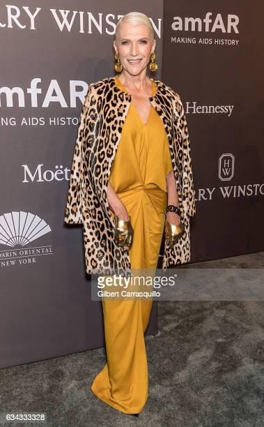 Model Maye Musk attends 19th Annual amfAR New York Gala at Cipriani Wall Street on February 8 2017 in New York City