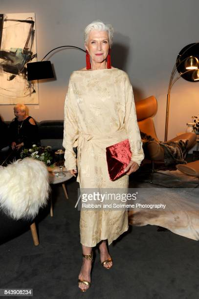 Model Maye Musk attends Etihad Airways Celebrating Runway To Runway With Special Guest Julien MacDonald Obe at Skylight Clarkson Sq on September 7...