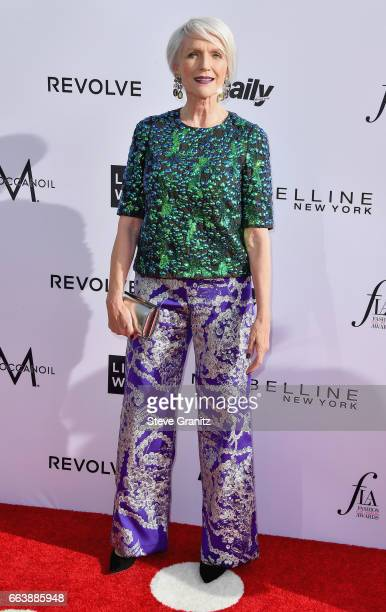 Model Maye Musk attends the Daily Front Row's 3rd Annual Fashion Los Angeles Awards at Sunset Tower Hotel on April 2 2017 in West Hollywood California