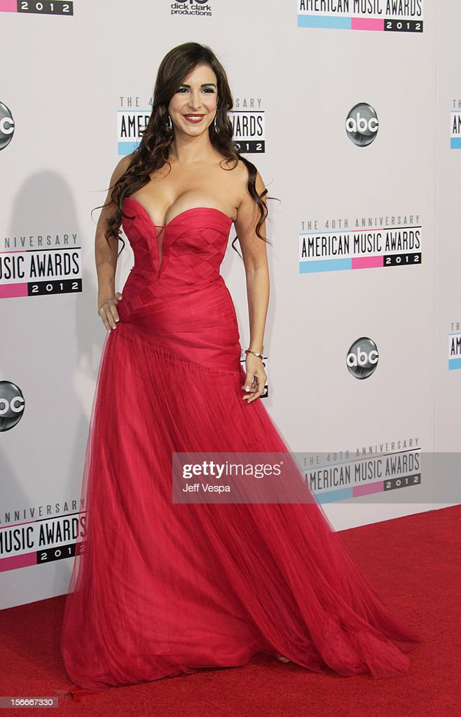 Model Mayra Vernoica attends the 40th Anniversary American Music Awards held at Nokia Theatre L.A. Live on November 18, 2012 in Los Angeles, California.