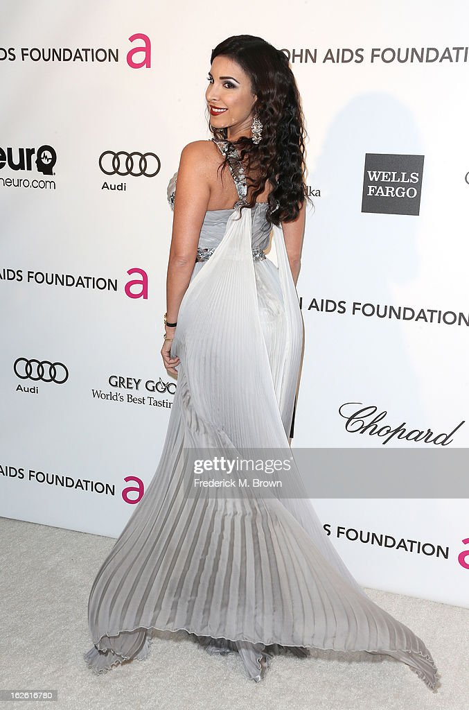 Model Mayra Veronica arrives at the 21st Annual Elton John AIDS Foundation's Oscar Viewing Party on February 24, 2013 in Los Angeles, California.