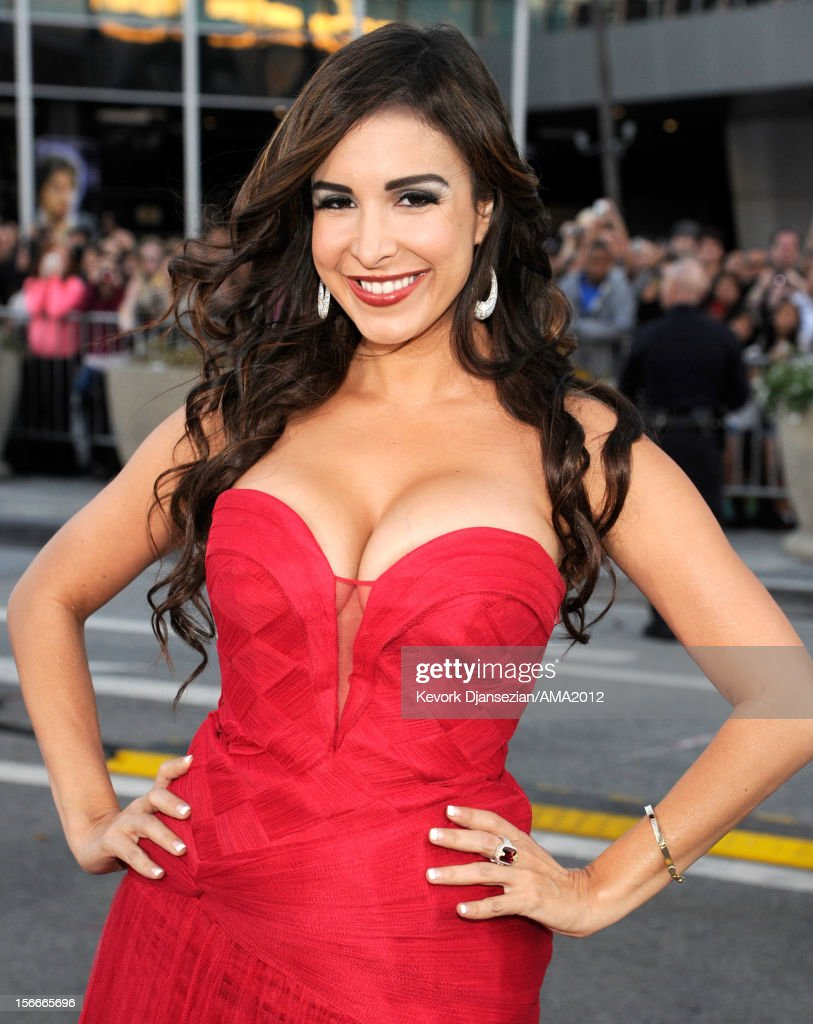 Model Mayra Veronica attends the 40th American Music Awards held at Nokia Theatre L.A. Live on November 18, 2012 in Los Angeles, California.