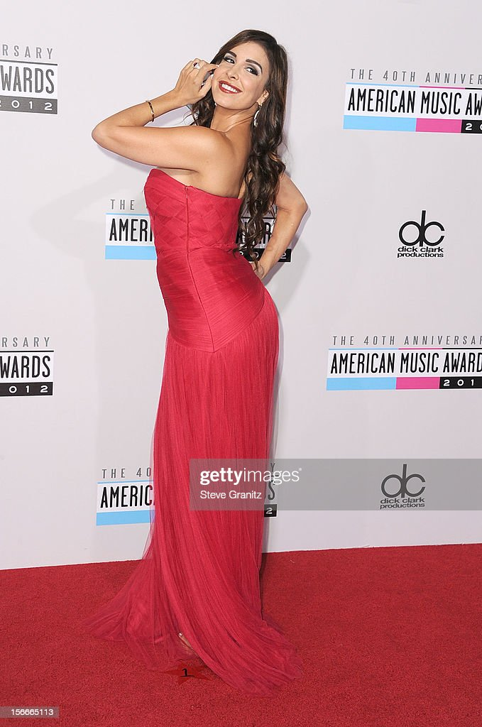 Model Mayra Veronica attends the 40th Anniversary American Music Awards held at Nokia Theatre L.A. Live on November 18, 2012 in Los Angeles, California.