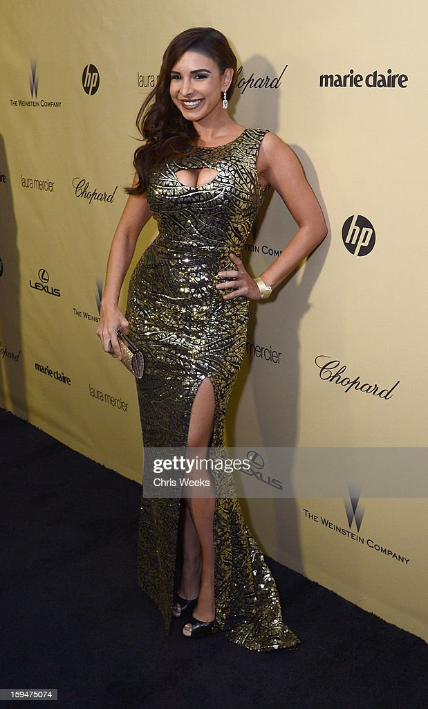 Model Mayra Veronica attends The Weinstein Company's 2013 Golden Globe Awards after party presented by Chopard, HP, Laura Mercier, Lexus, Marie Claire, and Yucaipa Films held at The Old Trader Vic's at The Beverly Hilton Hotel on January 13, 2013 in Beverly Hills, California.