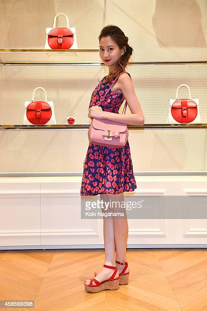 Model Mayuko Kawakita attends the Delvaux Red Moon Party at Delvaux Omotesando on November 7 2014 in Tokyo Japan