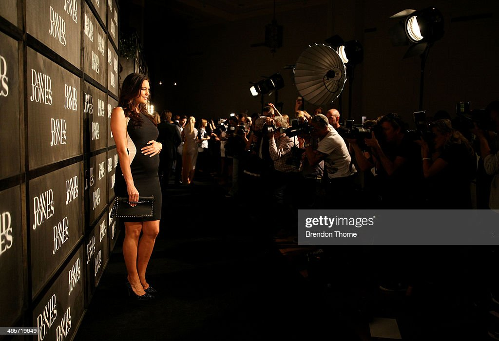 Model <a gi-track='captionPersonalityLinkClicked' href=/galleries/search?phrase=Megan+Gale&family=editorial&specificpeople=202042 ng-click='$event.stopPropagation()'>Megan Gale</a> arrives at the David Jones A/W 2014 Collection Launch at the David Jones Elizabeth Street Store on January 29, 2014 in Sydney, Australia.