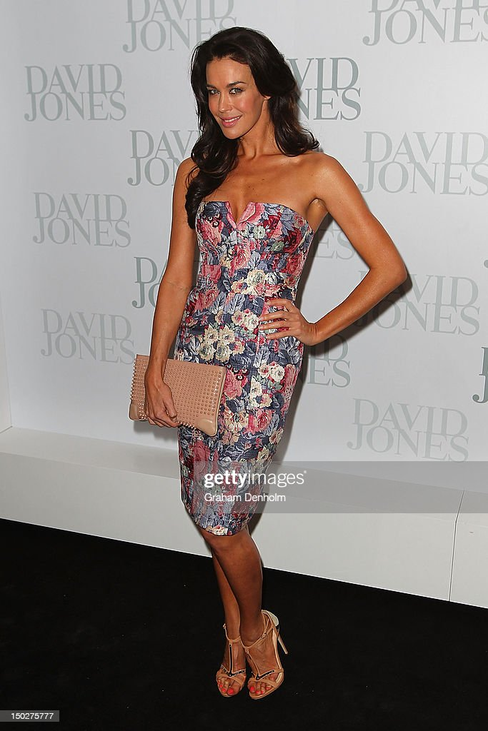 Model Megan Gale attends the David Jones S/S 2012/13 Season Launch at David Jones Castlereagh Street on August 14, 2012 in Sydney, Australia.