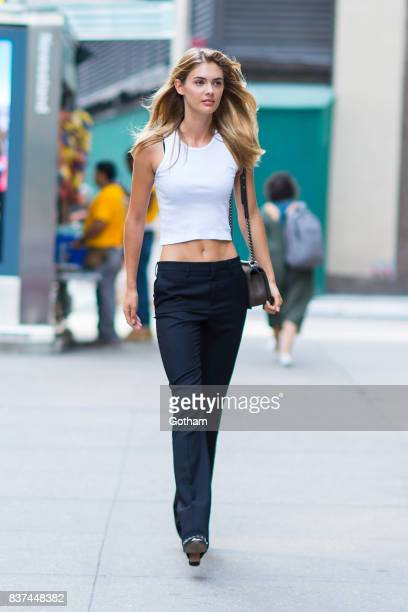 Model Megan Williams attends call backs for the 2017 Victoria's Secret Fashion Show in Midtown on August 22 2017 in New York City