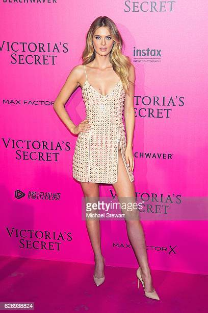 Model Megan Williams attends the 2016 Victoria's Secret Fashion Show after party at Le Grand Palais on November 30 2016 in Paris France