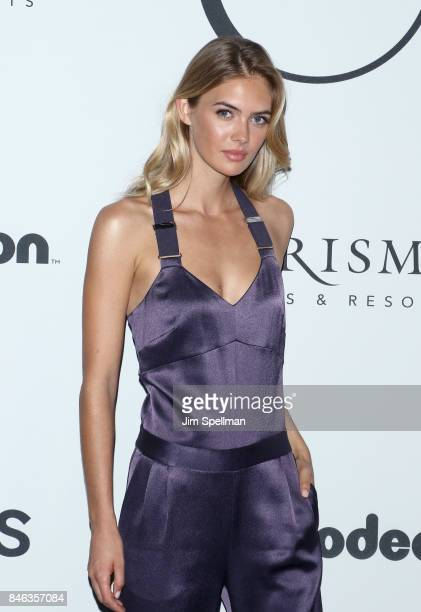 Model Megan Williams attends the 2017 Unitas Gala at Capitale on September 12 2017 in New York City