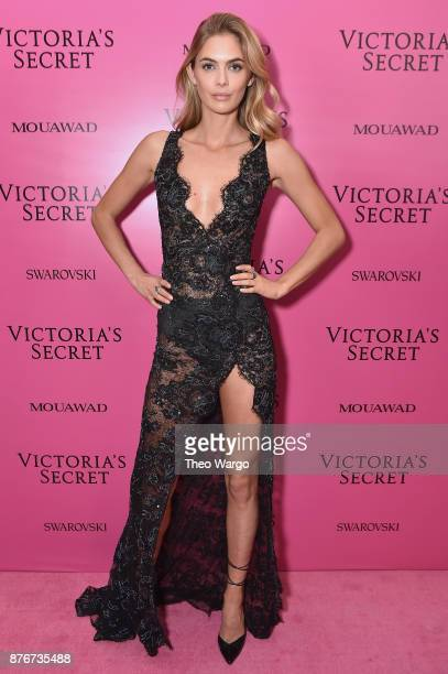 Model Megan Williams attends the 2017 Victoria's Secret Fashion Show In Shanghai After Party at MercedesBenz Arena on November 20 2017 in Shanghai...