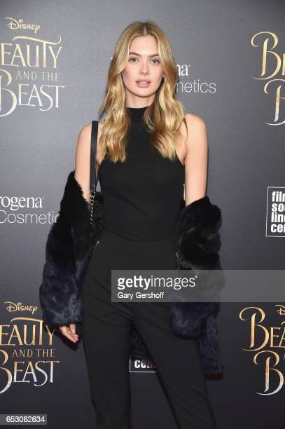 Model Megan Williams attends the 'Beauty And The Beast' New York screening at Alice Tully Hall Lincoln Center on March 13 2017 in New York City