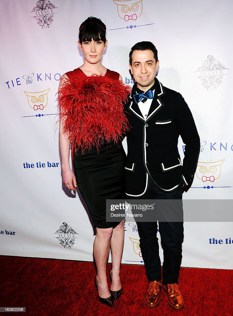 Model Meghan Giffin and Viktor Luna attend Tie The Knot NYC at Avenue on February 27, 2013 in New York City.