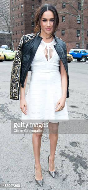 Model Meghan Markle attends Fall 2014 Mercedes Benz Fashion Week on February 8 2014 in New York City