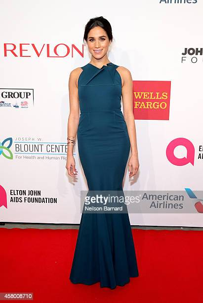 Model Meghan Markle attends the Elton John AIDS Foundation's 13th Annual An Enduring Vision Benefit at Cipriani Wall Street powered by CIROC Vodka on...