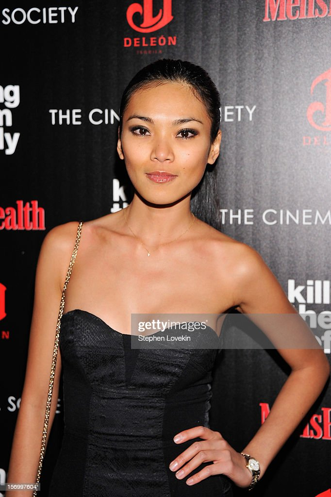 Model Meki Saldana attends The Cinema Society with Men's Health and DeLeon hosted screening of The Weinstein Company's 'Killing Them Softly' on November 26, 2012 in New York City.