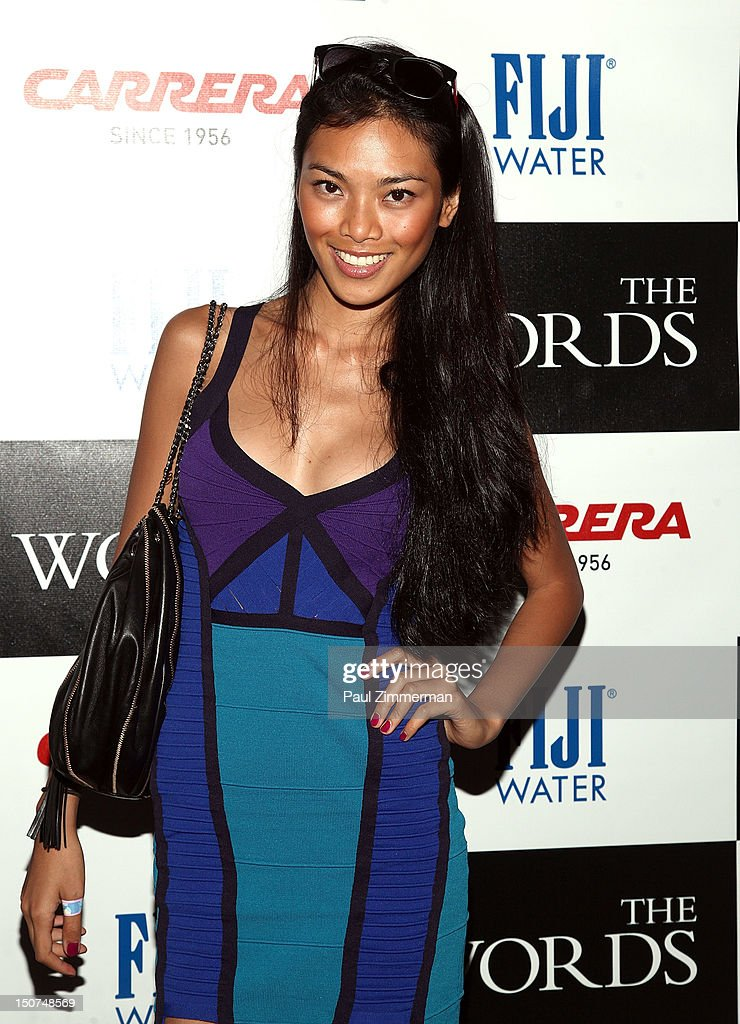 Model Meki Saldana attends 'The Words' screening at Goose Creek on August 25, 2012 in East Hampton, New York.