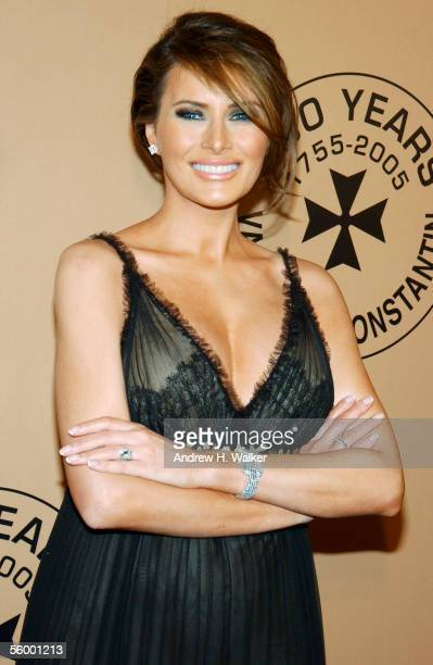 Model Melania Trump attends the 250th Anniversary Celebration of luxury watch brand Vacheron Constantin on October 24 2005 in New York City Melania...