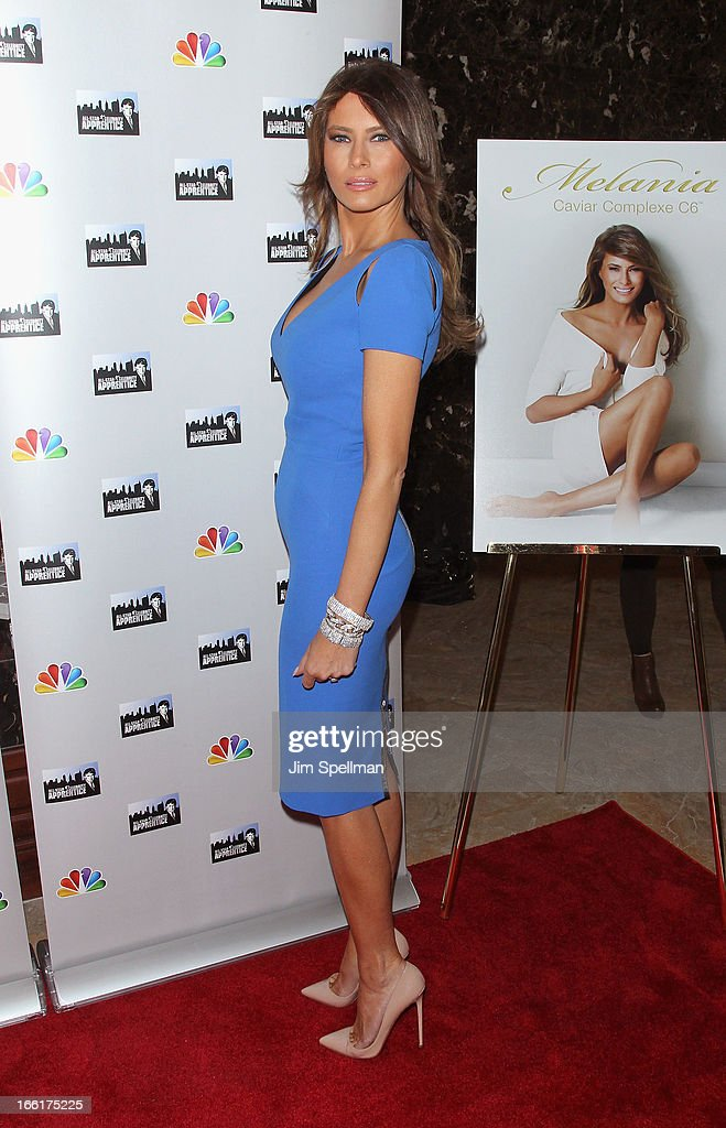 Model Melania Trump attends the 'Celebrity Apprentice All-Star' event at Trump Tower on April 9, 2013 in New York City.