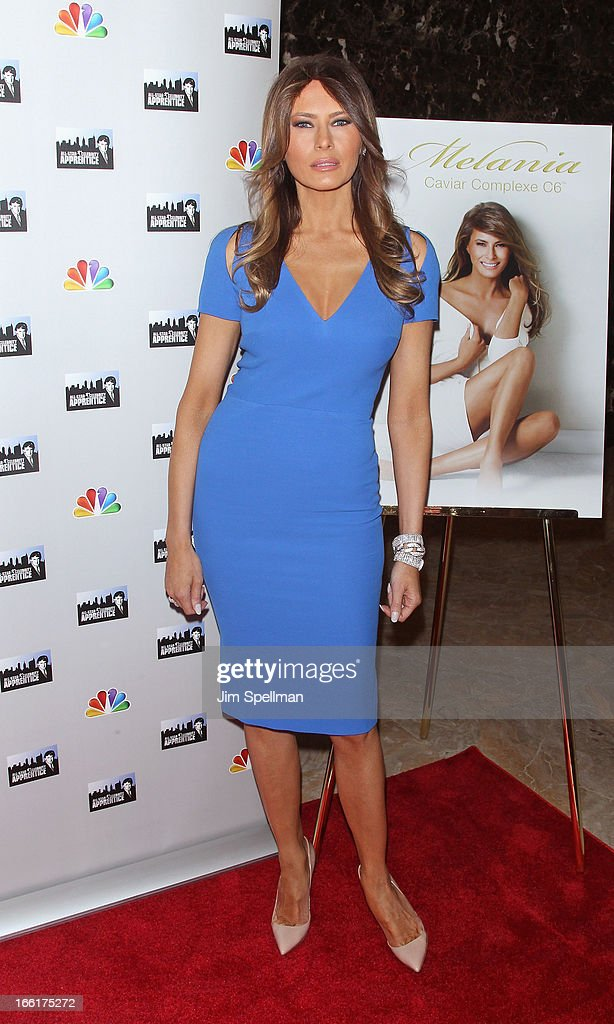 Model <a gi-track='captionPersonalityLinkClicked' href=/galleries/search?phrase=Melania+Trump&family=editorial&specificpeople=201777 ng-click='$event.stopPropagation()'>Melania Trump</a> attends the 'Celebrity Apprentice All-Star' event at Trump Tower on April 9, 2013 in New York City.
