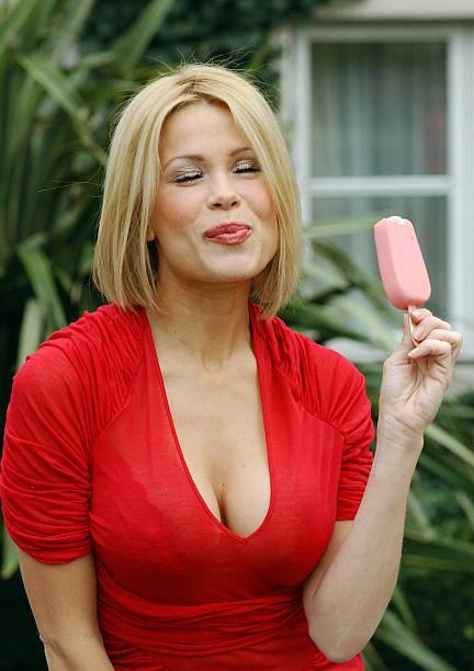model melinda messenger promotes limited edition ice cream brand photos and images getty images. Black Bedroom Furniture Sets. Home Design Ideas