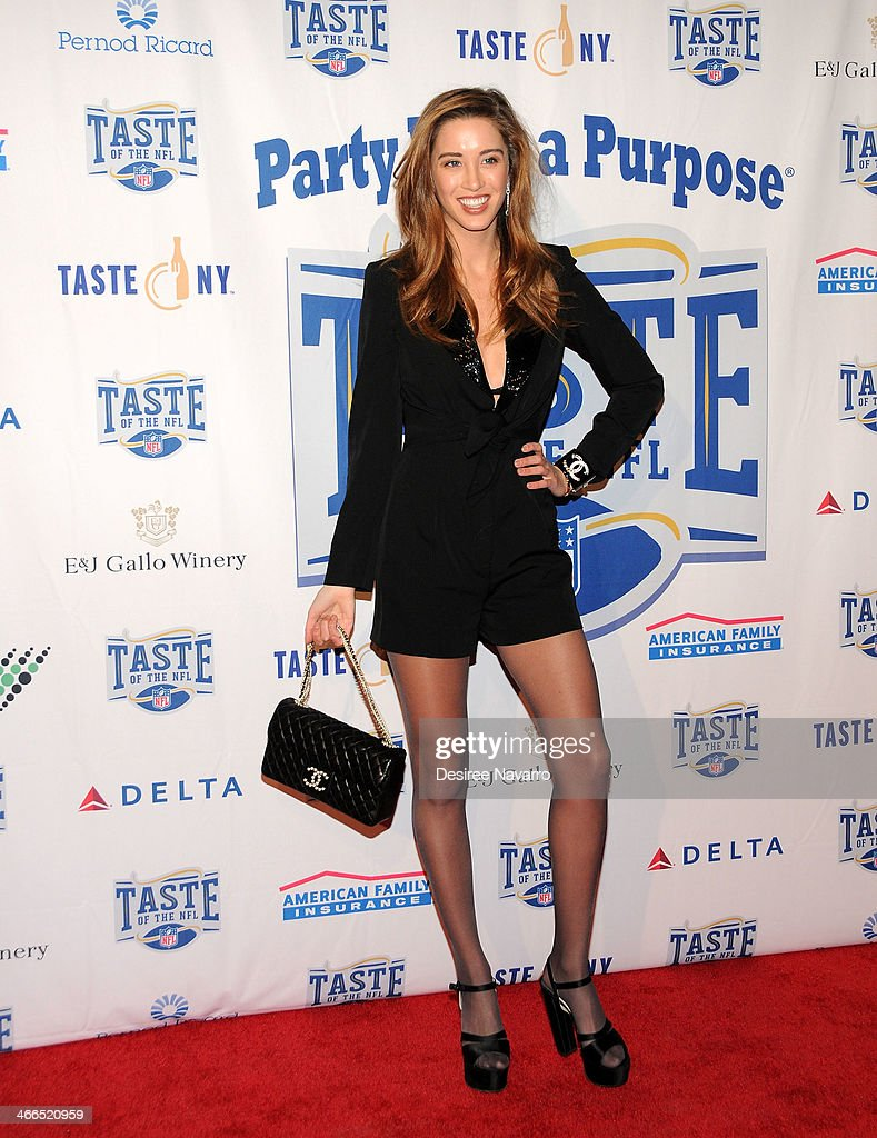 Model Melissa Bolona attends the 23rd Annual Super Bowl Party With A Purpose at Brooklyn Cruise Terminal on February 1, 2014 in New York City.