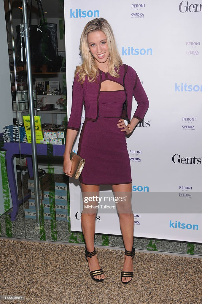 Model Melissa Bolona attends the Gents At Kitson Launch Event at Kitson on Roberston on July 11, 2013 in Beverly Hills, California.