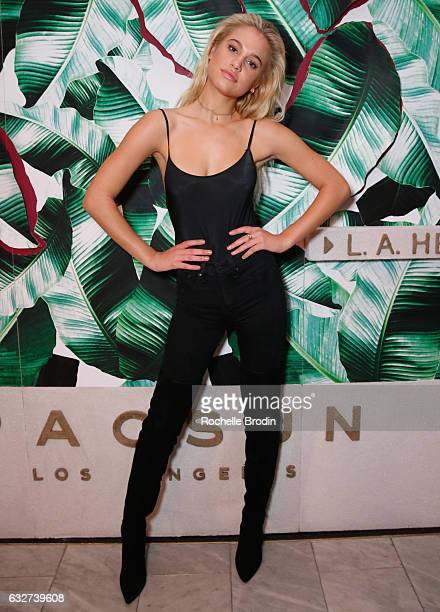 Model Meredith Mickelson attends LA Hearts PacSun celebrate 2017 Spring Swimwear Collection at Delilah on January 25 2017 in Los Angeles California
