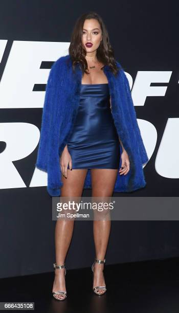Model Mia Kang attends 'The Fate Of The Furious' New York premiere at Radio City Music Hall on April 8 2017 in New York City