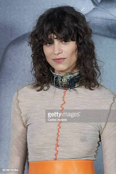 Model Mica Arganaraz attends 'LOEWE Past Present Future' exhibition at Jardin Botanico on November 17 2016 in Madrid Spain