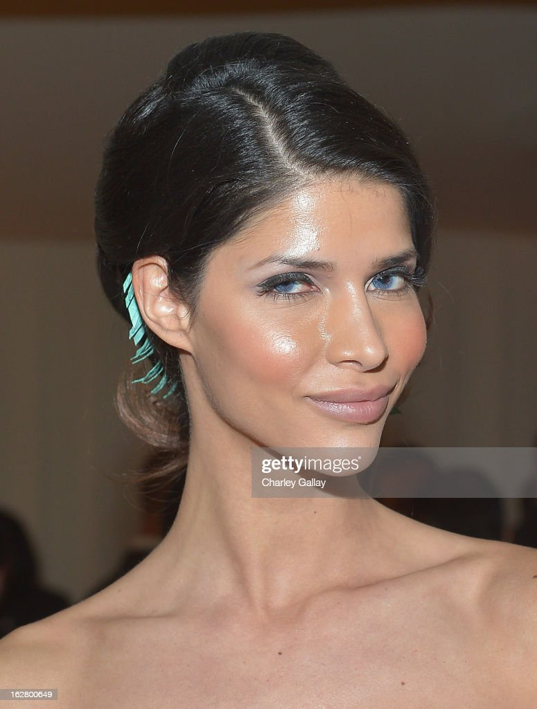 Model Micaela Schaefer attends Neuro at 21st Annual Elton John AIDS Foundation Academy Awards Viewing Party at West Hollywood Park on February 24, 2013 in West Hollywood, California.