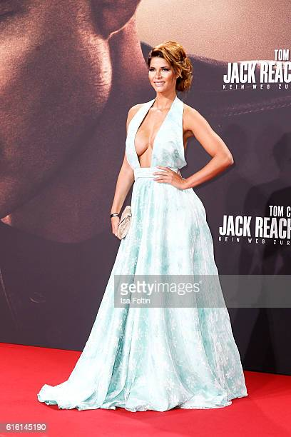 Model Micaela Schaefer attends the 'Jack Reacher Never Go Back' Berlin Premiere at CineStar Sony Center Potsdamer Platz on October 21 2016 in Berlin...