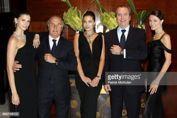 Model Michel Pitteloud Model Henri Barguirdjian and Model attend The Private Unveiling of GRAFF Time Watch Collection 1 at Graff on June 11 2009 in...