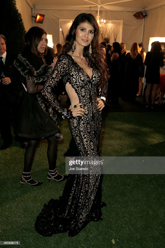 Model Micheline Etkin attends The Weinstein Company & Netflix's 2014 Golden Globes After Party presented by Bombardier, FIJI Water, Lexus, Laura Mercier, Marie Claire and Yucaipa Films at The Beverly Hilton Hotel on January 12, 2014 in Beverly Hills, California.