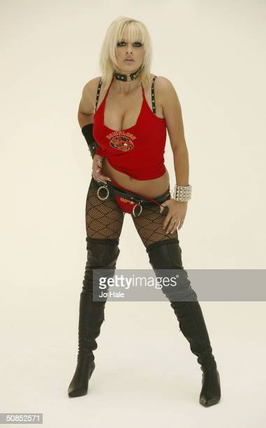Model Michelle Marsh helps launch the Download Festival at Holborn Studios on May 18 2004 in London The festival runs from June 5 to 6 this year at...