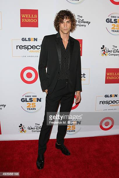 Model Miles McMillan attends the 2015 GLSEN Respect Awards at the Beverly Wilshire Four Seasons Hotel on October 23 2015 in Beverly Hills California