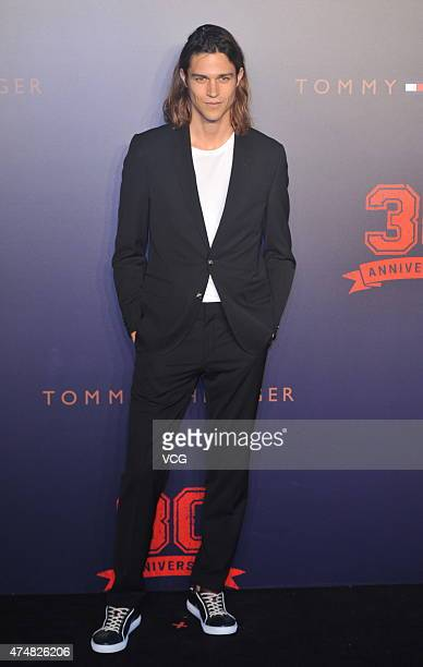 Model Miles McMillan attends Tommy Hilfiger's 30th Anniversary at 751DPARK on May 26 2015 in Beijing China