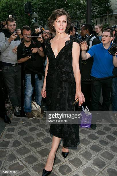 Model Milla Jovovitch attends the Vogue Foundation Gala 2016 at Palais Galliera on July 5 2016 in Paris France