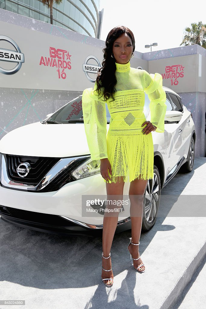 Model Millen Magese attends the Nissan red carpet during the 2016 BET Awards at the Microsoft Theater on June 26, 2016 in Los Angeles, California.