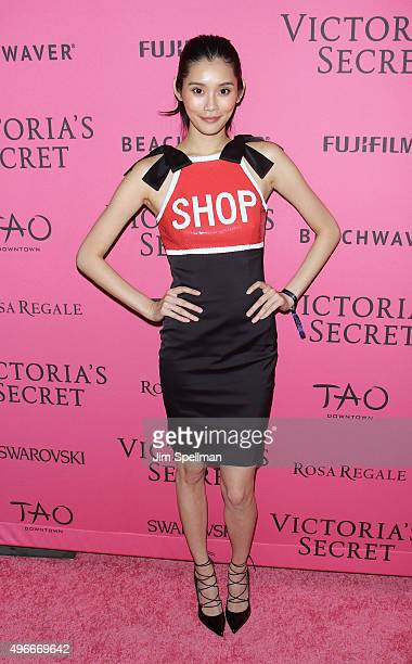 Model Ming Xi attends the 2015 Victoria's Secret Fashion Show after party at TAO Downtown on November 10 2015 in New York City