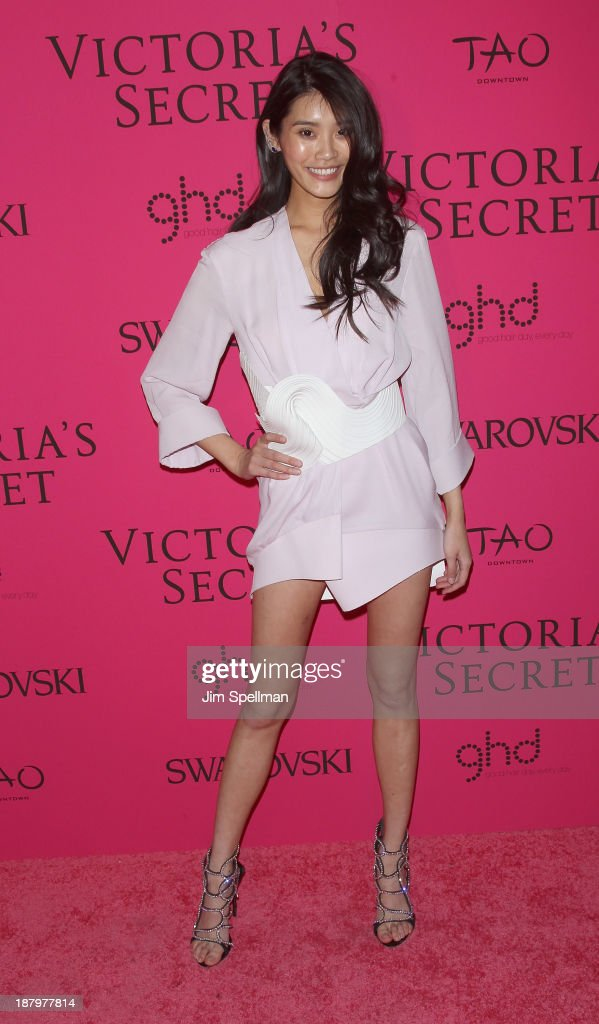 Model <a gi-track='captionPersonalityLinkClicked' href=/galleries/search?phrase=Ming+Xi&family=editorial&specificpeople=7182657 ng-click='$event.stopPropagation()'>Ming Xi</a> attends the after party for the 2013 Victoria's Secret Fashion Show at TAO Downtown on November 13, 2013 in New York City.