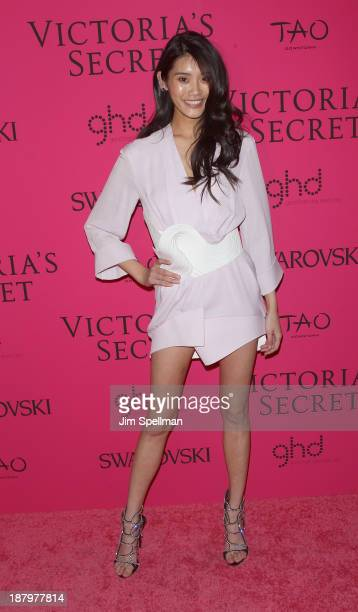 Model Ming Xi attends the after party for the 2013 Victoria's Secret Fashion Show at TAO Downtown on November 13 2013 in New York City