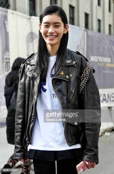 Model Ming Xi is seen outside the Prabal Gurung show on February 8 2014 in New York City
