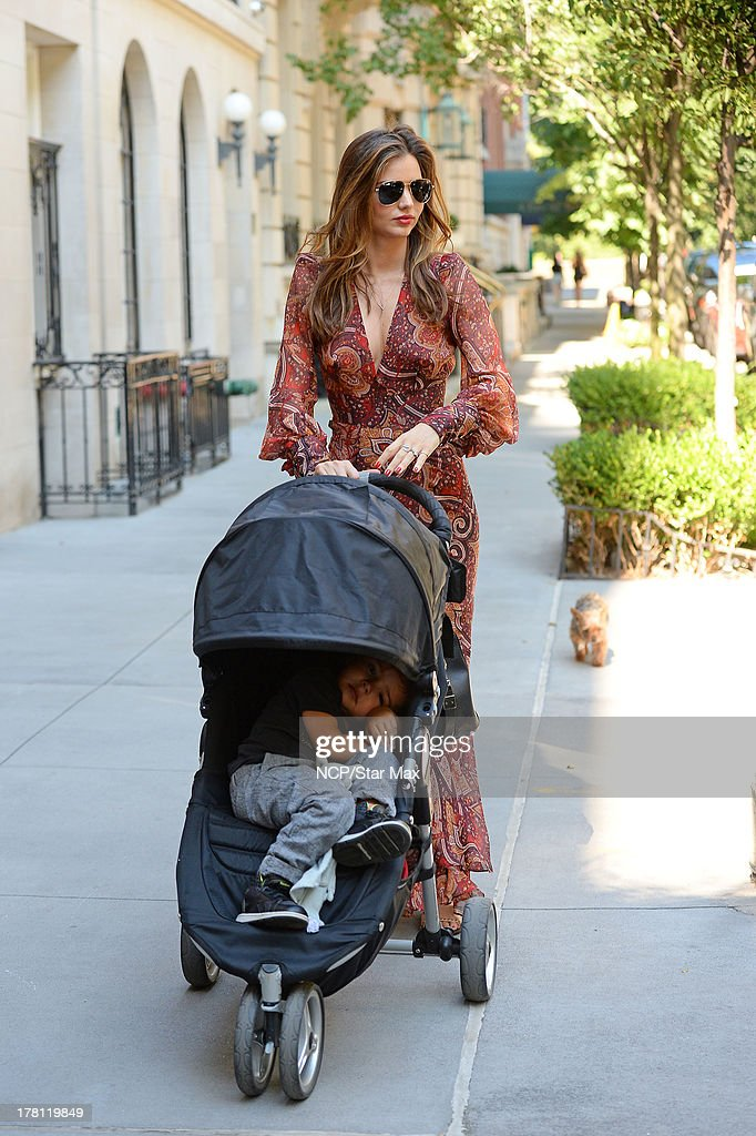 Model <a gi-track='captionPersonalityLinkClicked' href=/galleries/search?phrase=Miranda+Kerr&family=editorial&specificpeople=5714330 ng-click='$event.stopPropagation()'>Miranda Kerr</a> and <a gi-track='captionPersonalityLinkClicked' href=/galleries/search?phrase=Flynn+Bloom&family=editorial&specificpeople=8325201 ng-click='$event.stopPropagation()'>Flynn Bloom</a> are seen on August 25, 2013 in New York City.