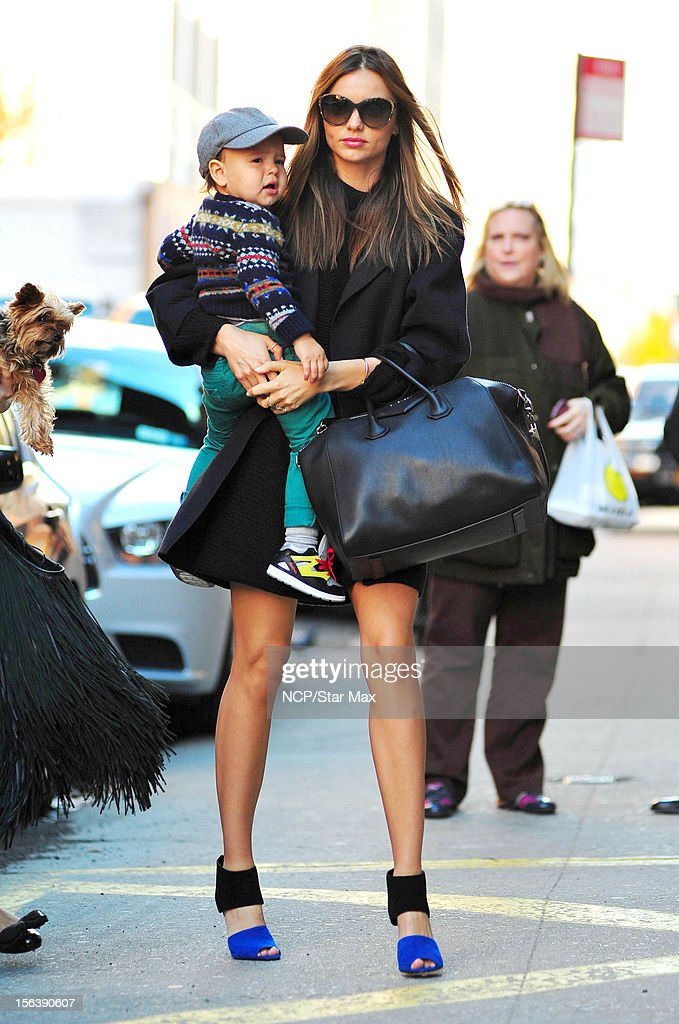 Model Miranda Kerr and Flynn Bloom as seen on November 14, 2012 in New York City.
