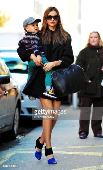 Model Miranda Kerr and Flynn Bloom as seen on November 14 2012 in New York City