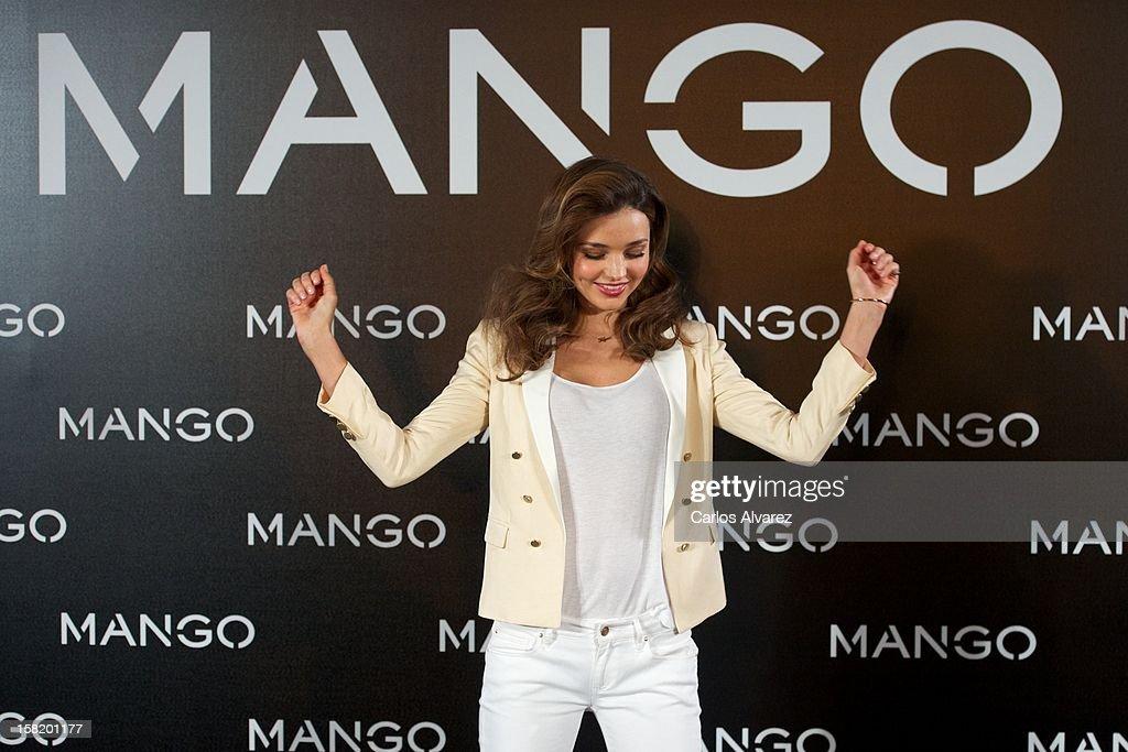 Model Miranda Kerr announced as the new Face of Mango at the Villamagna Hotel on December 11, 2012 in Madrid, Spain.