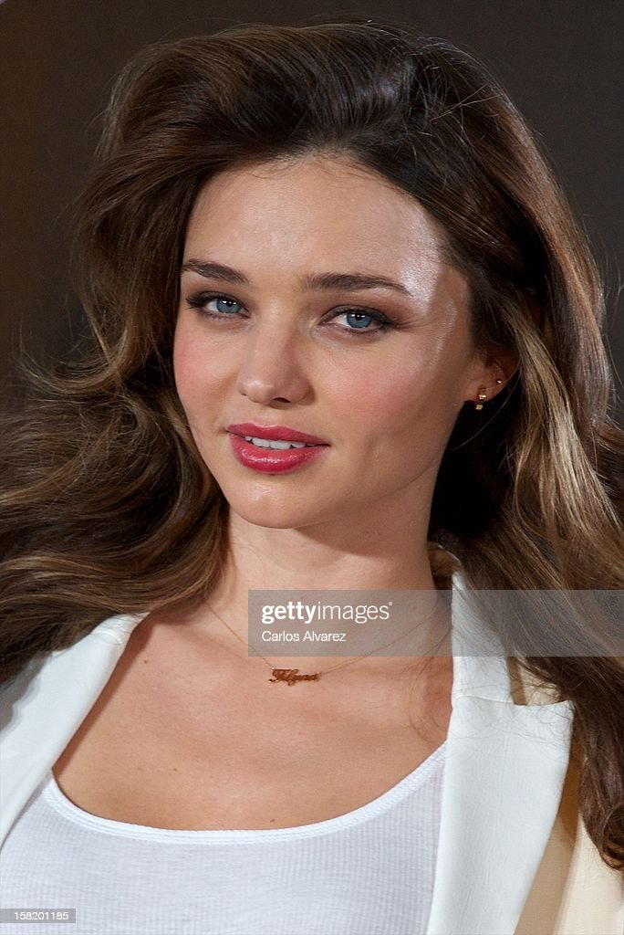 Model Miranda Kerr announced as the new Face of Mango at the Villamagna Hotel on December 11, 2012 in Madrid, Spain.